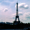 Silhoutte of the Eiffel Tower