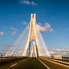 Lisbon - Vasco Da Gama Bridge spans the Tagus River in Parque das Nações