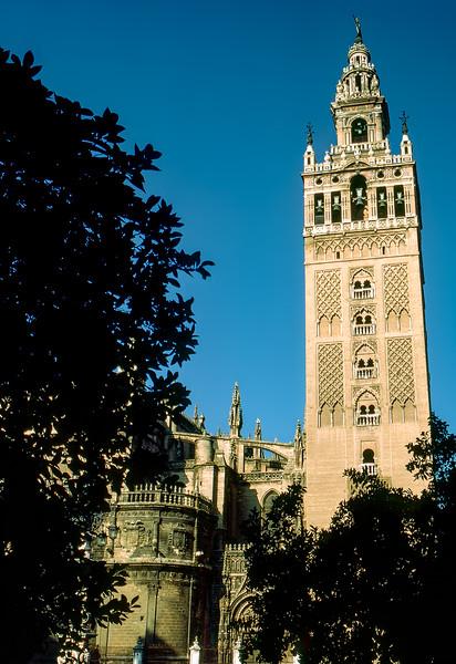 Seville Cathedral - Plaza de España (Square of Spain) - 1987