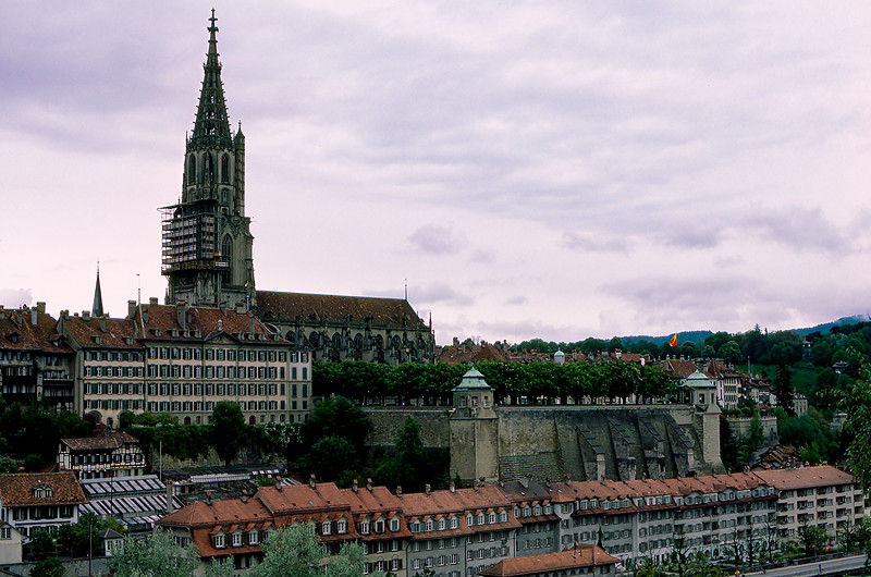 Bern Minster Cathedral (1893) in old town Bern, the Swiss  capital