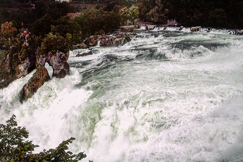 At 450 ft wide / 75 ft high Rhine Falls is the largest waterfall in Europe