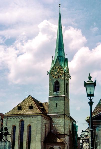 Zurich - Fraumünster Church (1732) - May 1984