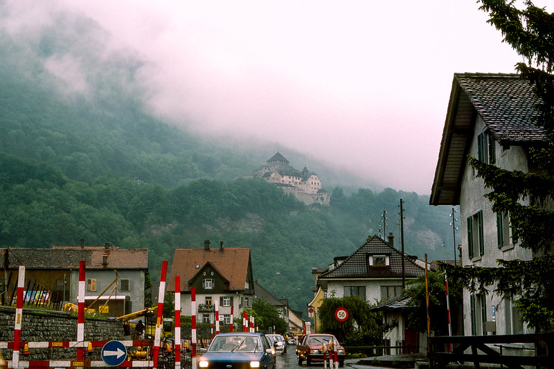 Liechtenstein - Vadux Castle on the hillside