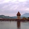 Kapellbrücke (1360) - Lucerne's covered bridge (672 feet)