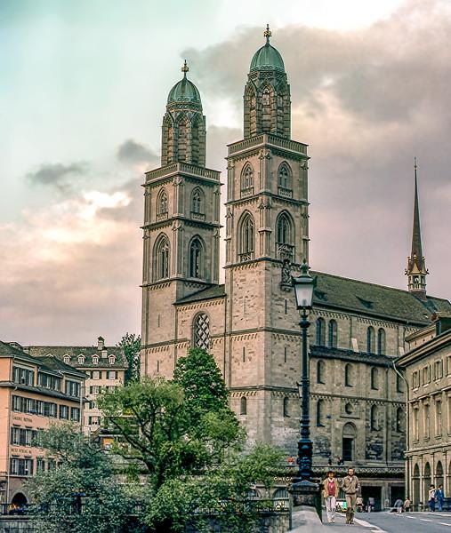 Zurich -  Grossmünster (1220) - Romanesque-style Protestant church