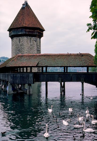 Destroyed in 1993, the bridge was rebuilt in 1994