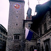 Rathaus clock tower (1606) - Old city of Lucerne