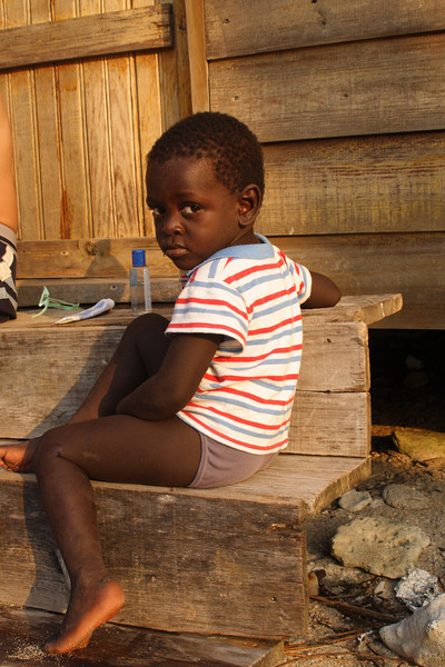 Garifuna boy, Cayos Cochinos, Honduras