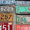 Discarded number plates for sale, Nevada, USA