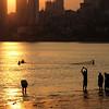 Sunset, Chowpatty Beach, Mumbai