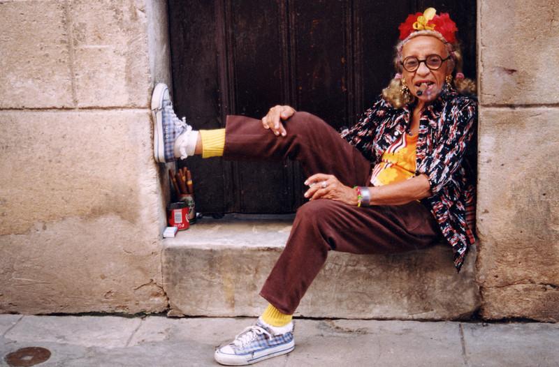 Cigar smoking lady, Havana, Cuba