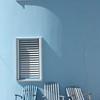 Coordinating deckchairs and beach house, Caye Caulker, Belize