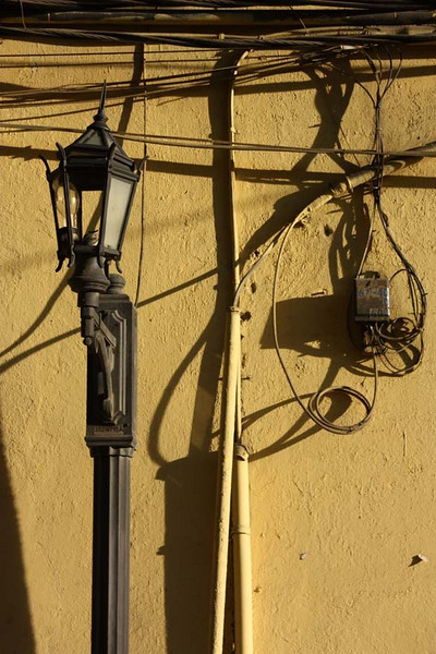 Broken street lamp, Casco Viejo, Panama City