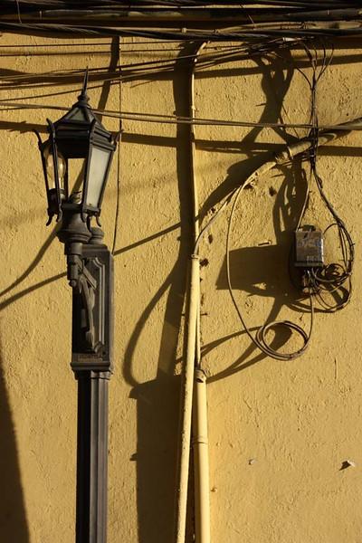 Broken street lamp, Casco Viejo, Panama City