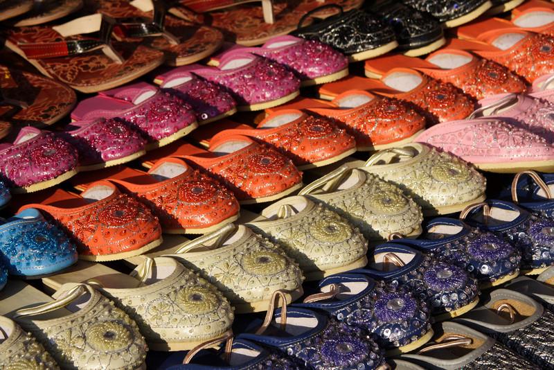 Shoes for sale, Anjuna market, Goa