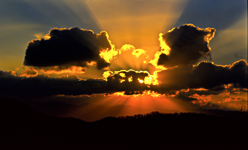 Unicoi Mountains Sunset