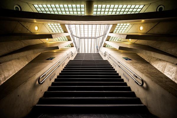stairway to platform