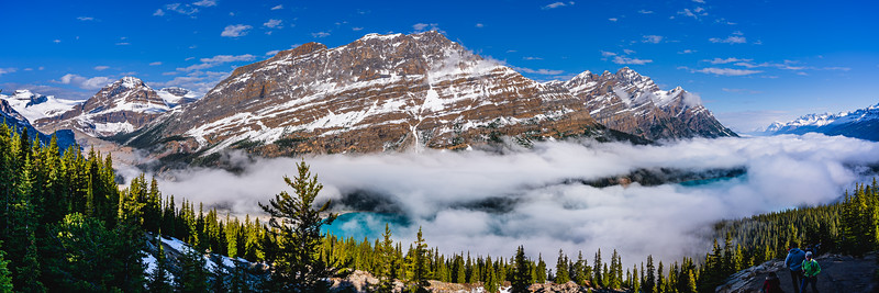 🇨🇦 A sea of clouds over Peyto Lake