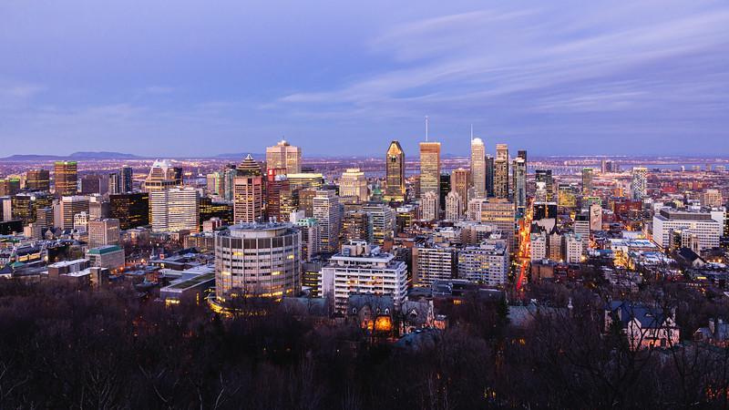 Montréal from Mont Royal