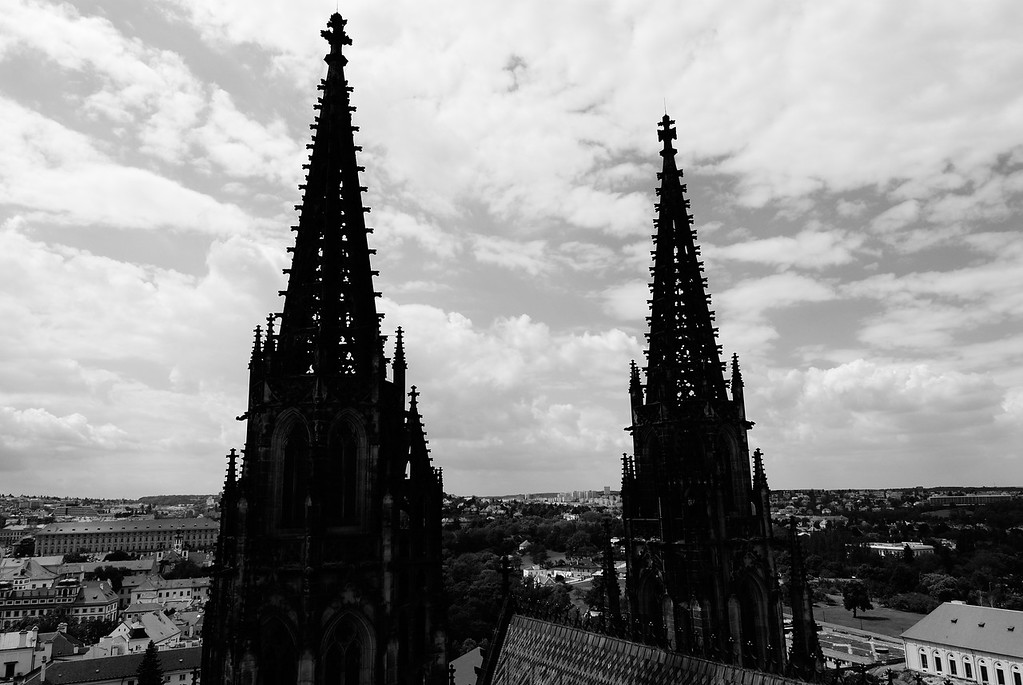 the 2 towers of of St. Vitus Cathedral