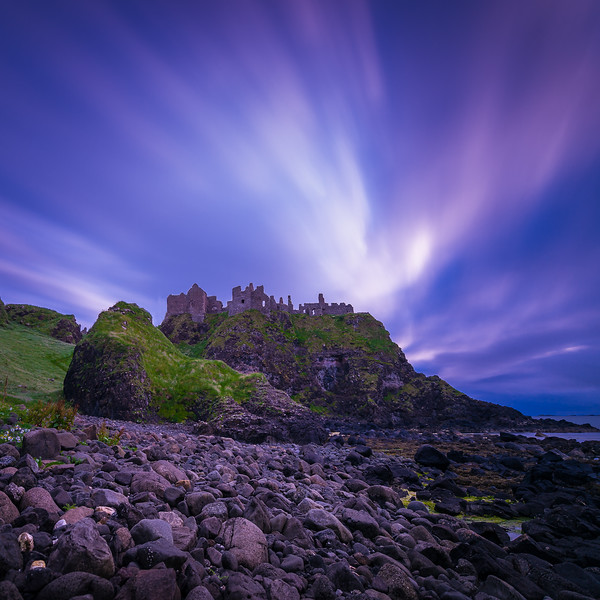 Dunluce Castle on the North Antrim coast of Northern Ireland