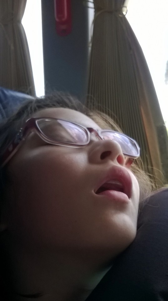 Sometimes the bus trips put us to sleep!