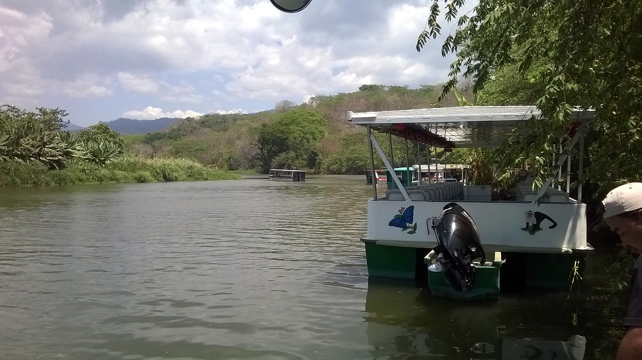 Boating on the Tarcoles River.