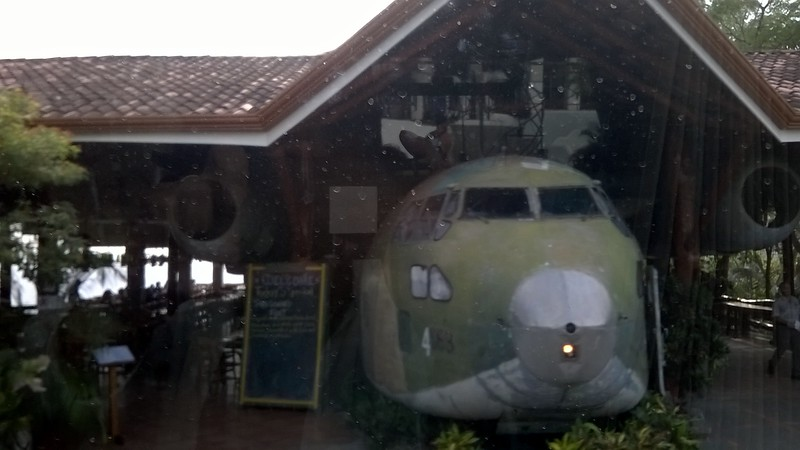 There is a story behind how this American plane ended up as a bar.