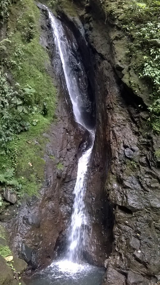 We hiked down to discover this waterfall.