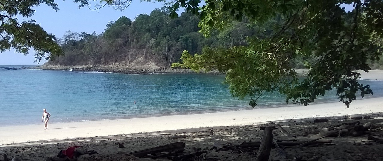 One of the lovely beaches in the park.