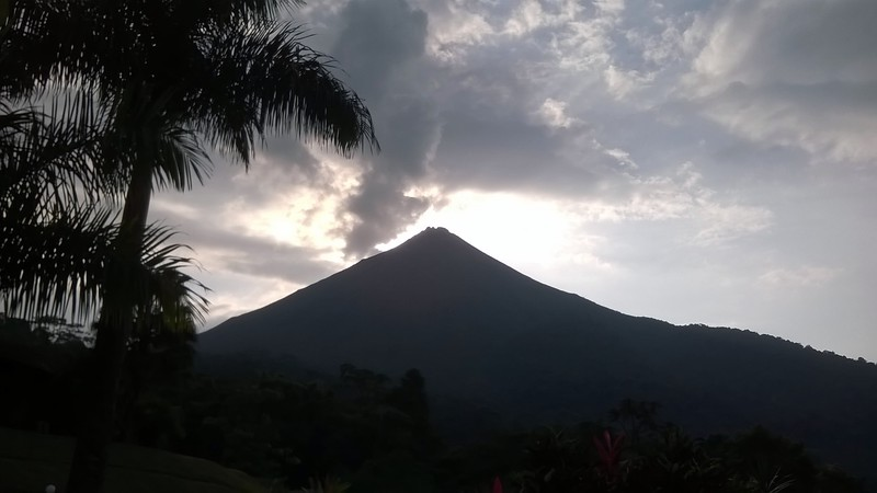 We stayed at the skirt of the Arenal volcano - Lomas del Volcan.