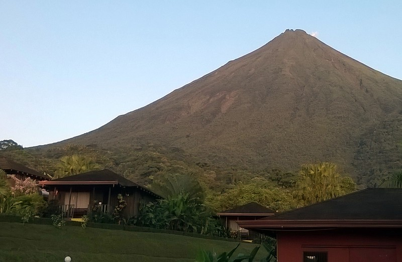 A view of some of the cabins at the foot of Arenal.