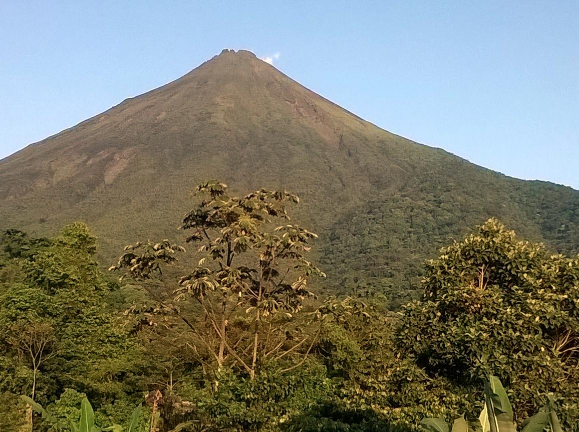 The volcano is slumbering right now.