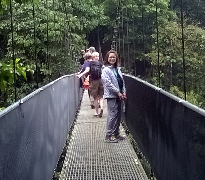Ella had no fear on the swinging bridges.