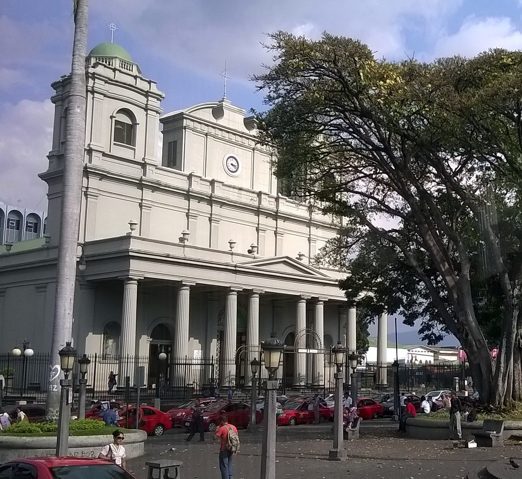 The church is always part of the main plaza.