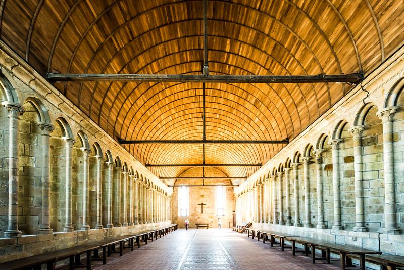 refectory of Abbaye du Mont-Saint-Michel