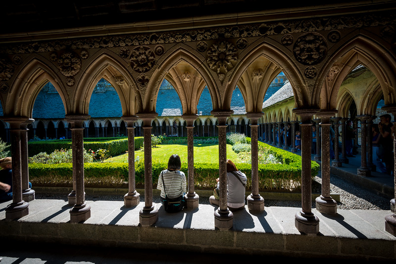 Cloisters of the Abbey of Mont Saint-Michel