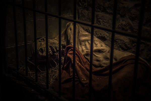 fake corpse to let u know that Mont St Michel was once a prison ..