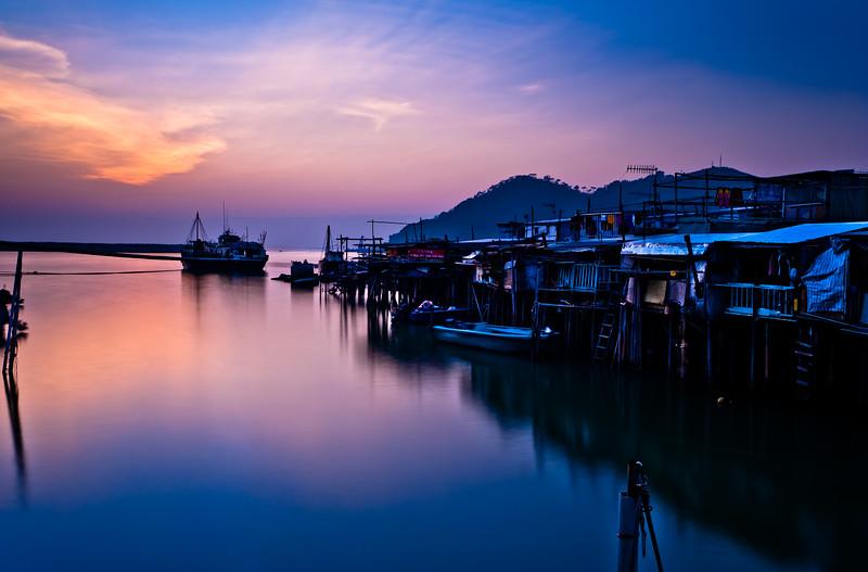 Water Village Sunset