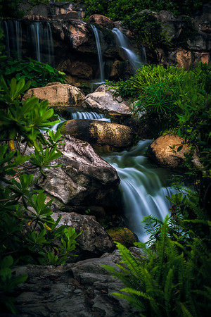 the wetland park waterfall