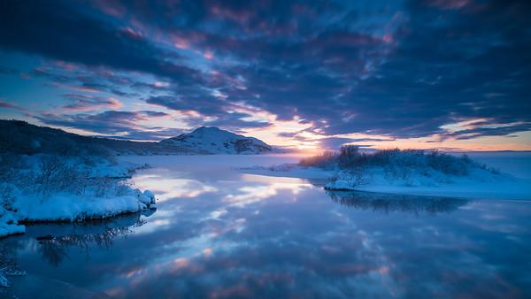 last light   Þingvallavatn