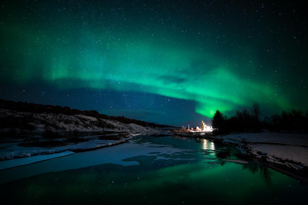 aurora borealis | Þingvellir