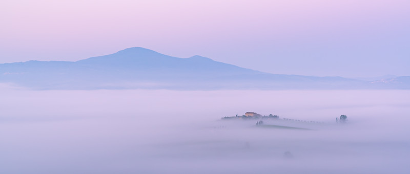 Monte Amiata and the floating villa