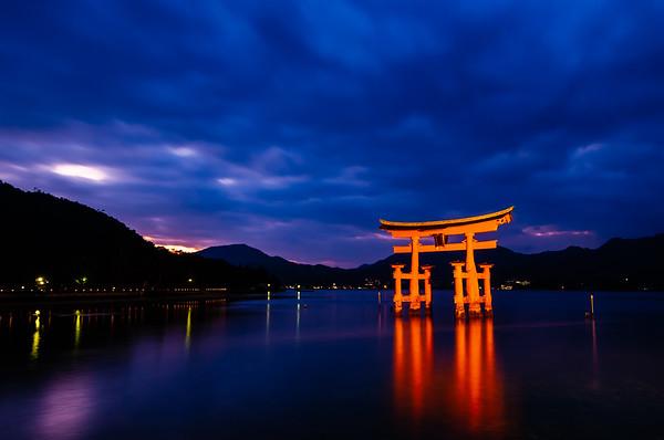 The Floating Torii of Itsukushima Shrine