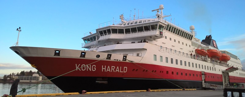 Our Hertigruten ship, Kong Harald, named after the present day king.