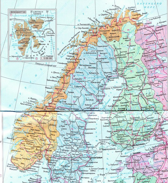 From Bergen passing the Artic Circle to the North Cape and Russia.