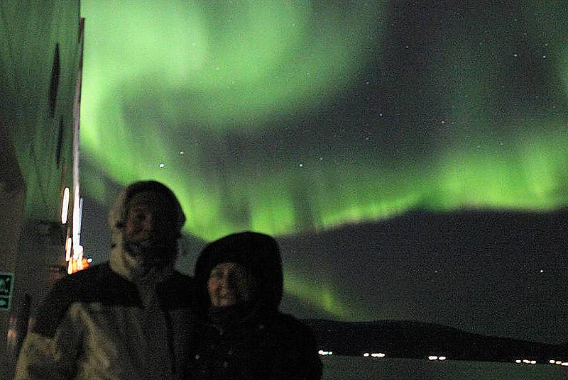 One of the trip's goal was to see the Northern Lights.