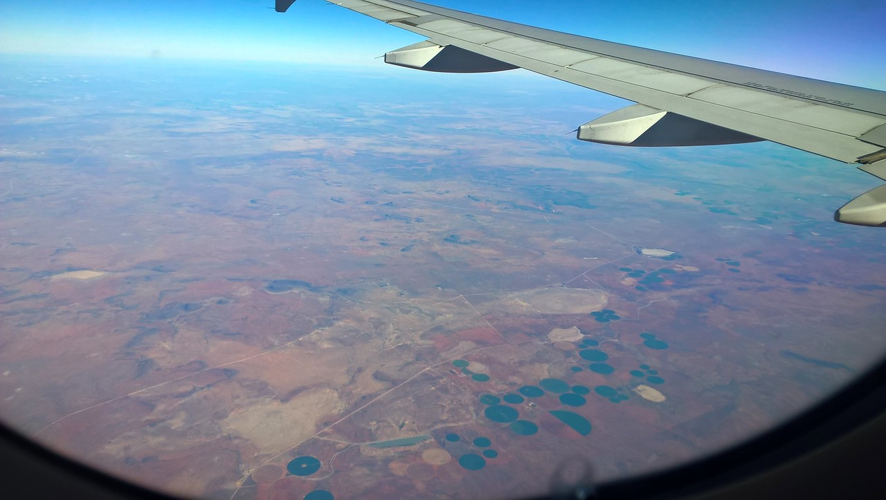 We are winging our way to the eastern side of South Africa.