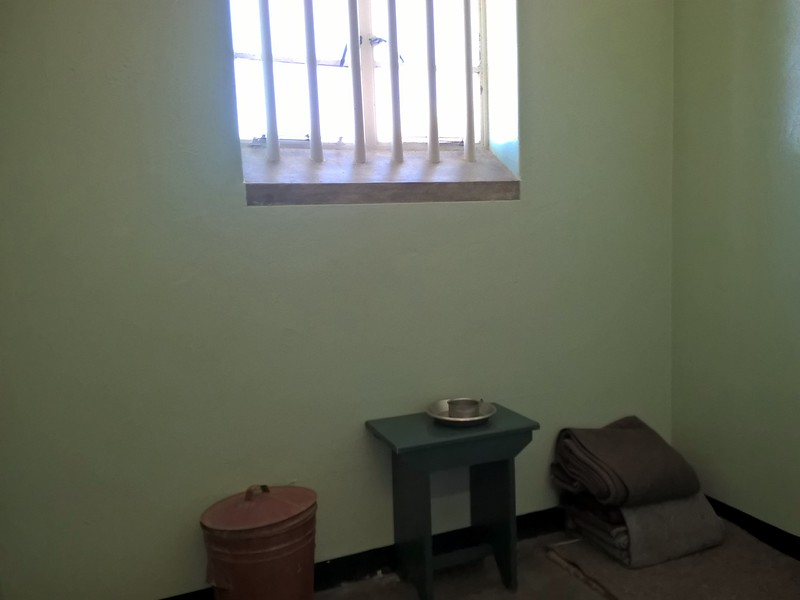 While others were placed in individual cells. This one was Mandela's.