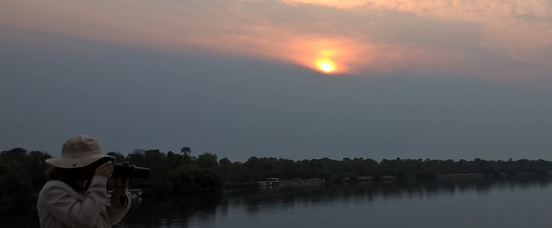 Sunset over the Zambezi River.